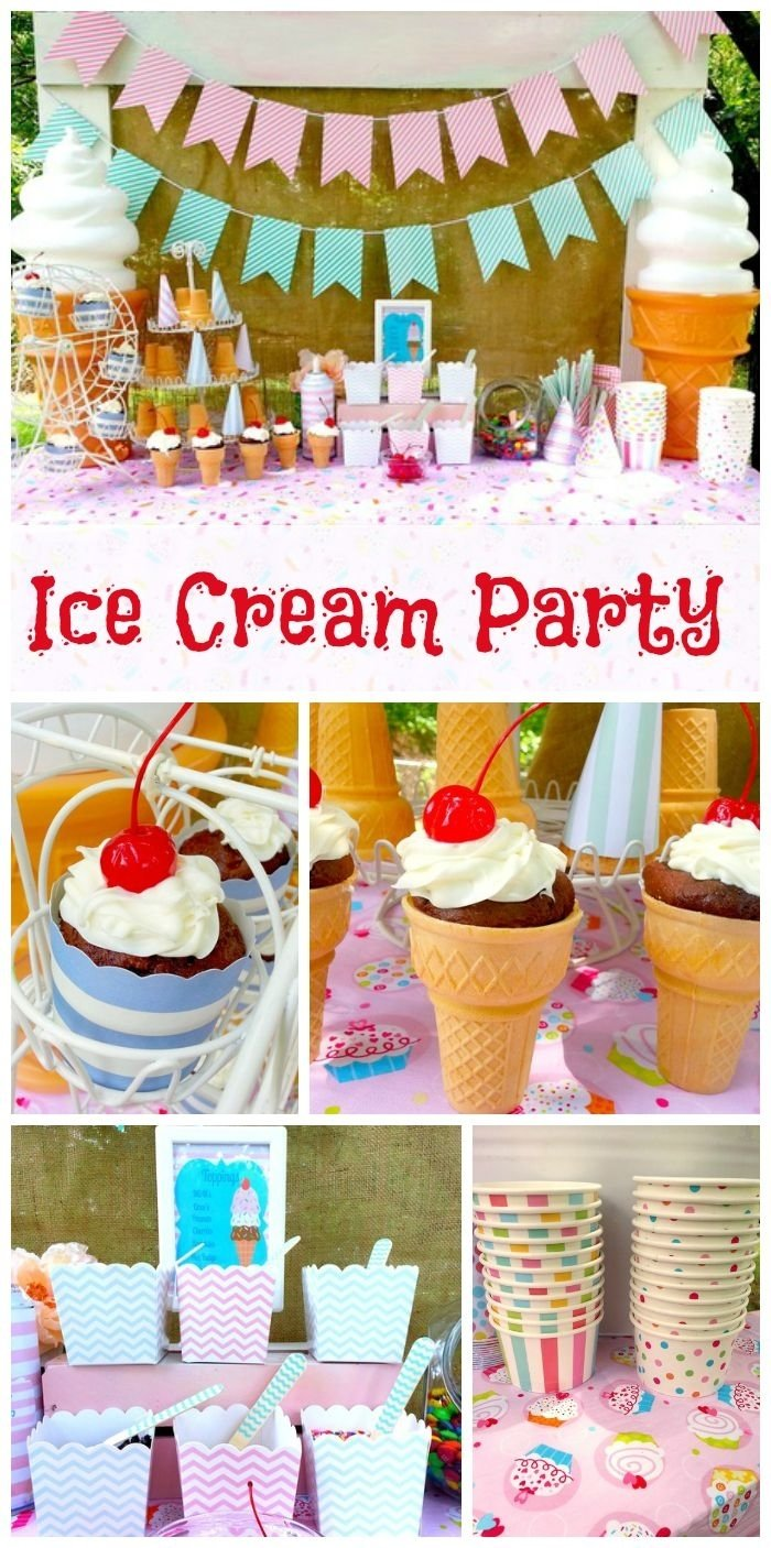 10 Most Recommended Ice Cream Social Party Ideas ice cream social summer ice cream social decoration 2020