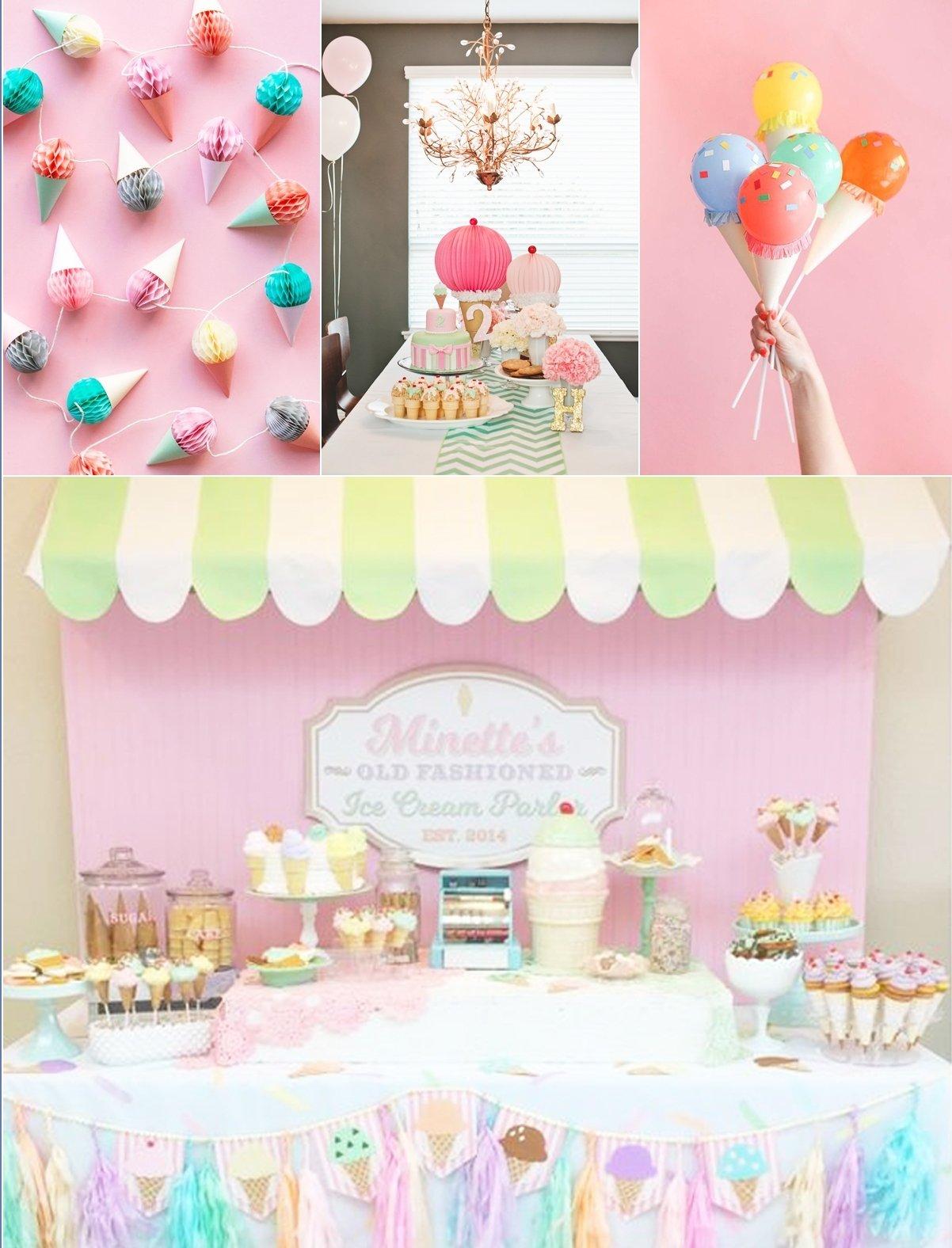 10 Fabulous Ice Cream Birthday Party Ideas ice cream theme party bop till you drop 2020