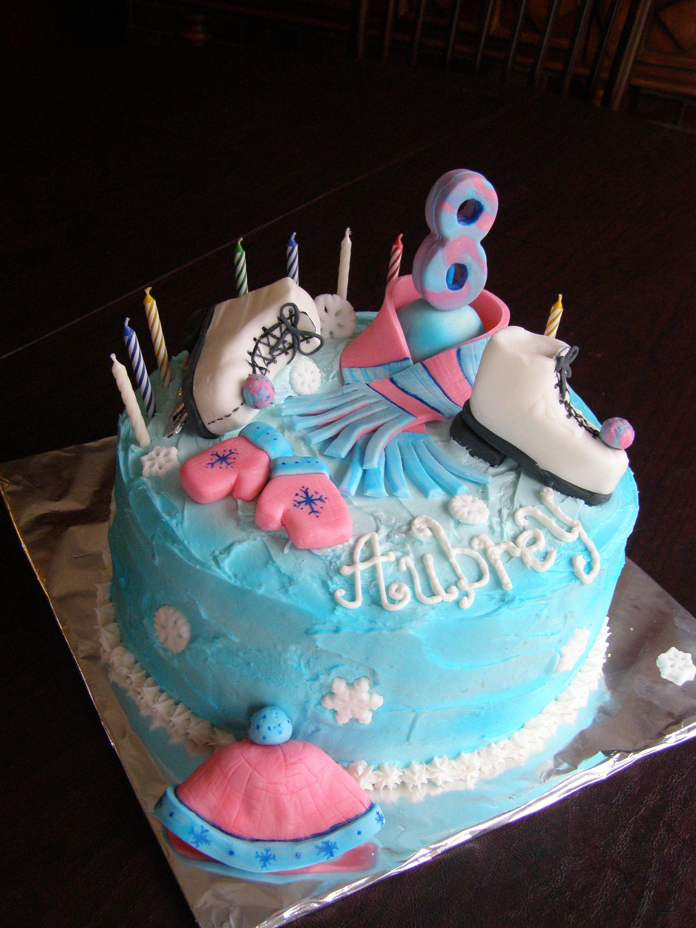 10 Fashionable Ice Skating Birthday Party Ideas ice skating birthday party cake cakes ive decorated pinterest