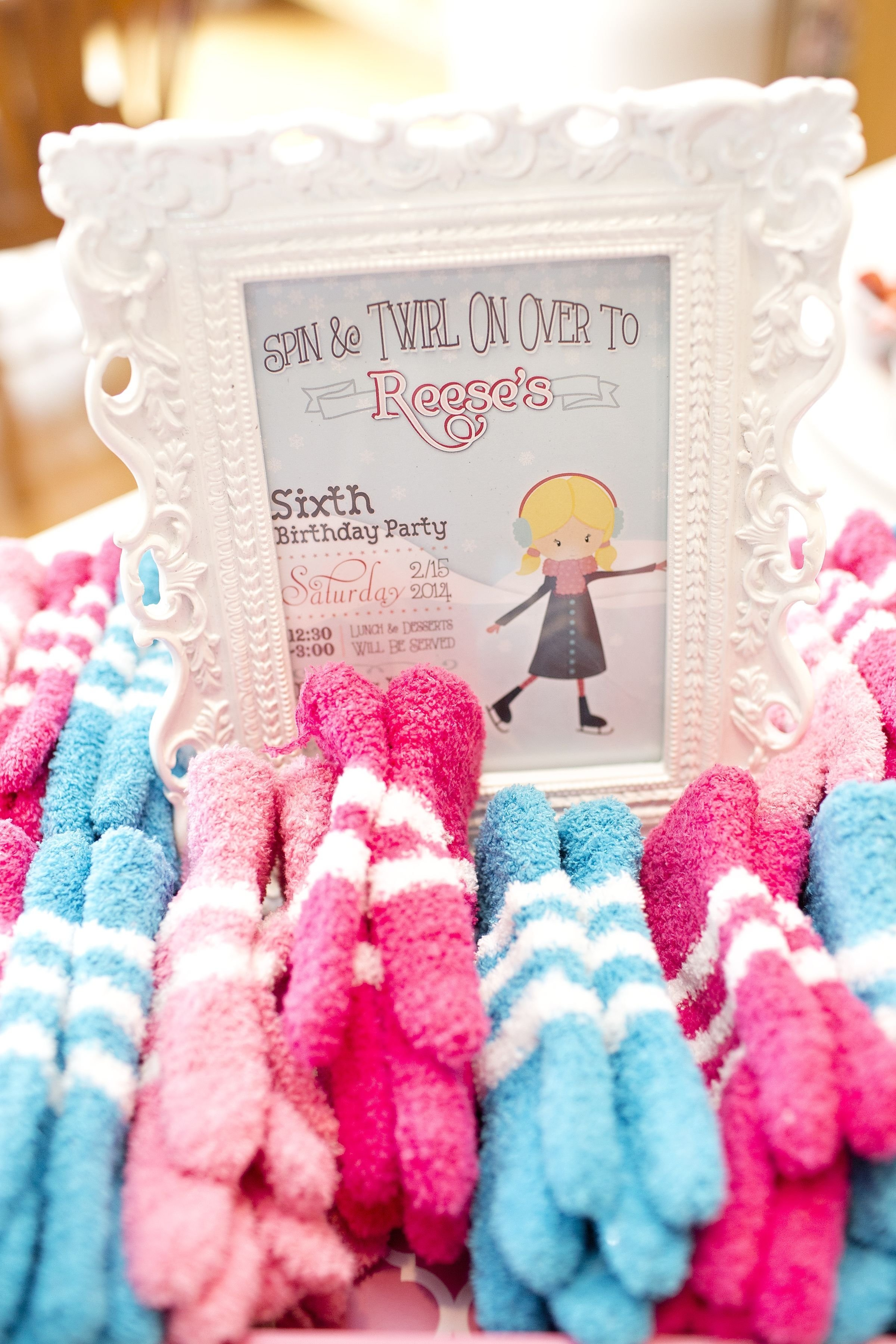 ice skating party mitten favors | ice skating party | pinterest