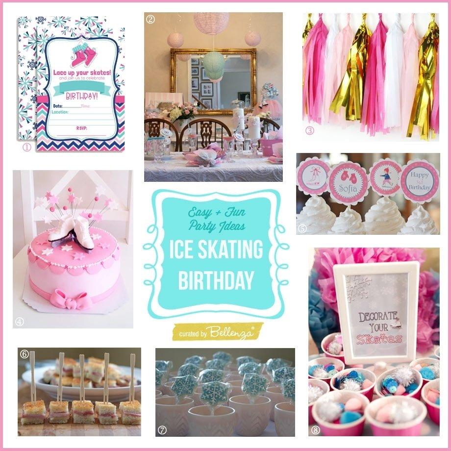 10 Fashionable Ice Skating Birthday Party Ideas ice skating themed pre teen birthday party easy fun ideas