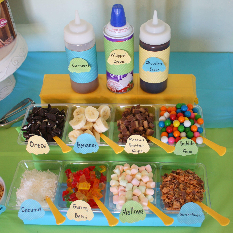 10 Beautiful Ice Cream Sundae Bar Ideas icecream bar ice cream sundae bar toppings icecream bar ideas 1 2020
