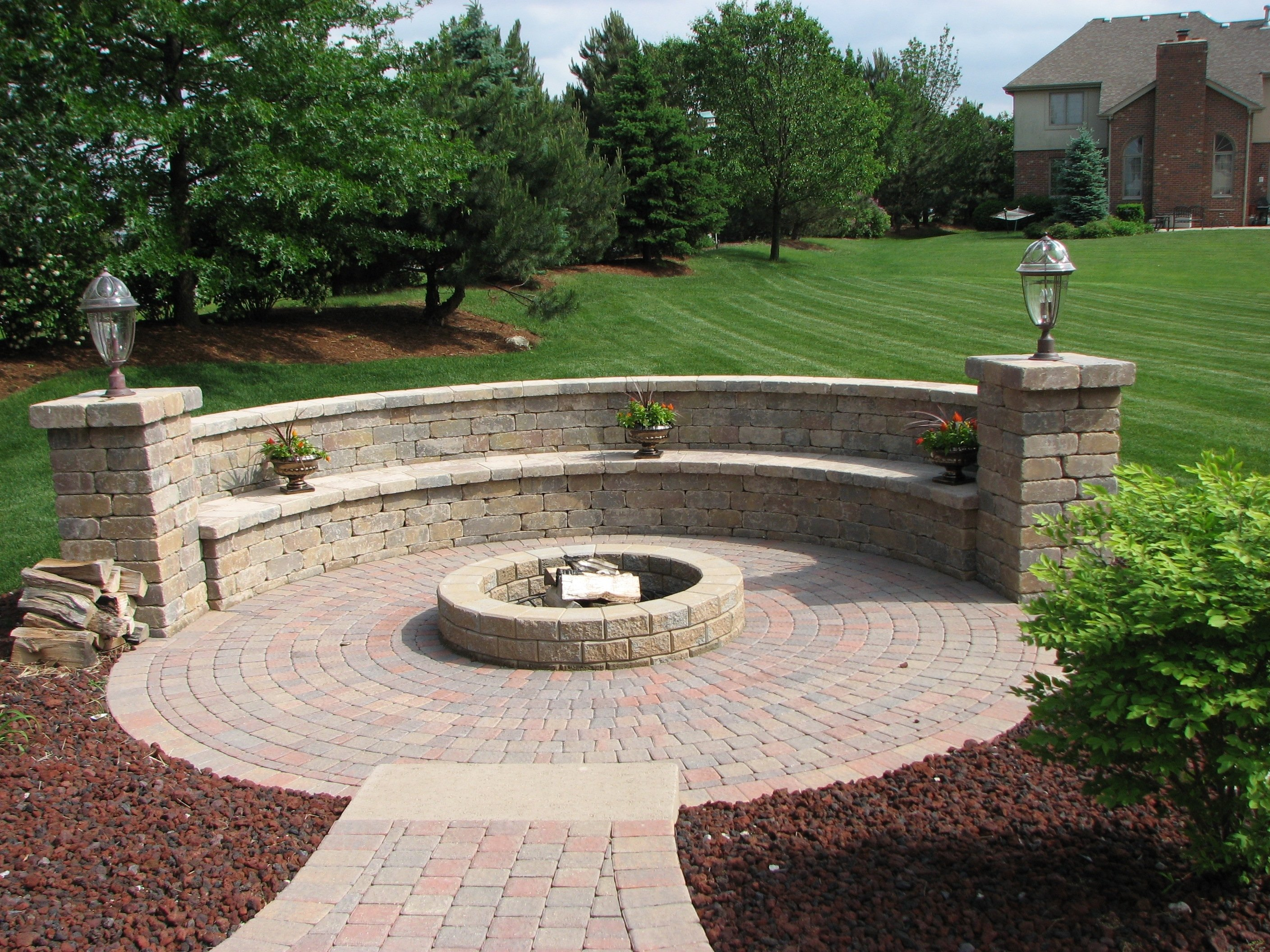 10 Perfect Patio Design Ideas With Fire Pits ideas about outdoor fire pit kits also designs patio area trends 2021