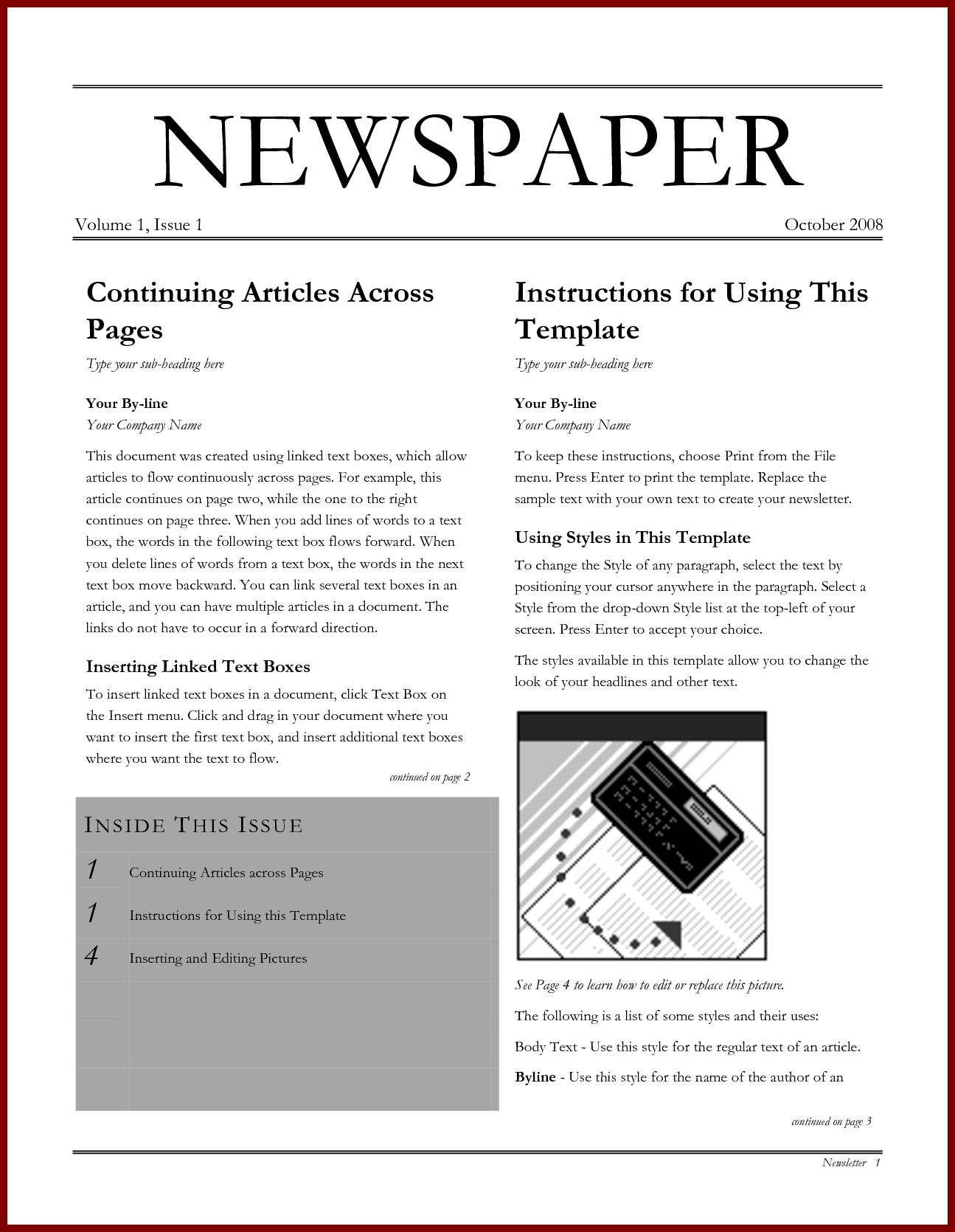10 Cute Article Ideas For School Newspaper ideas collection 17 microsoft word newspaper template with how to 2020