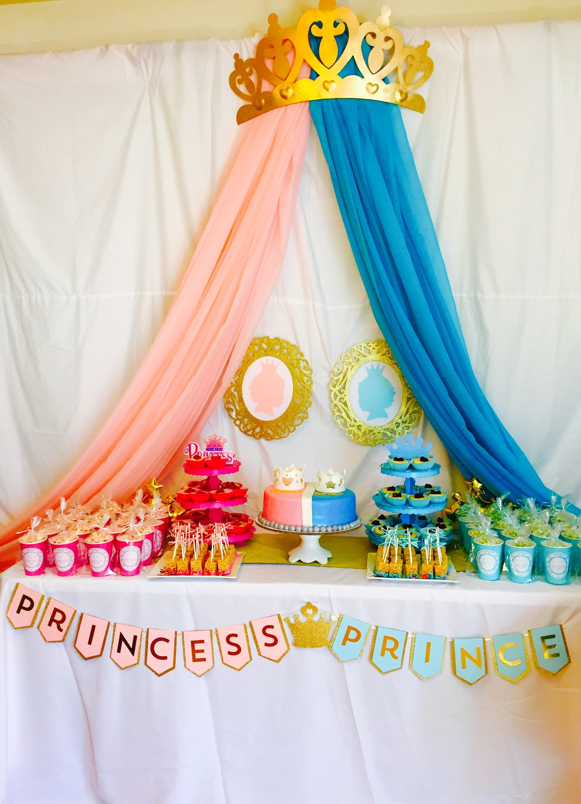 10 Elegant Princess And Prince Party Ideas ideas collection gender reveal princess or prince theme decors 2020