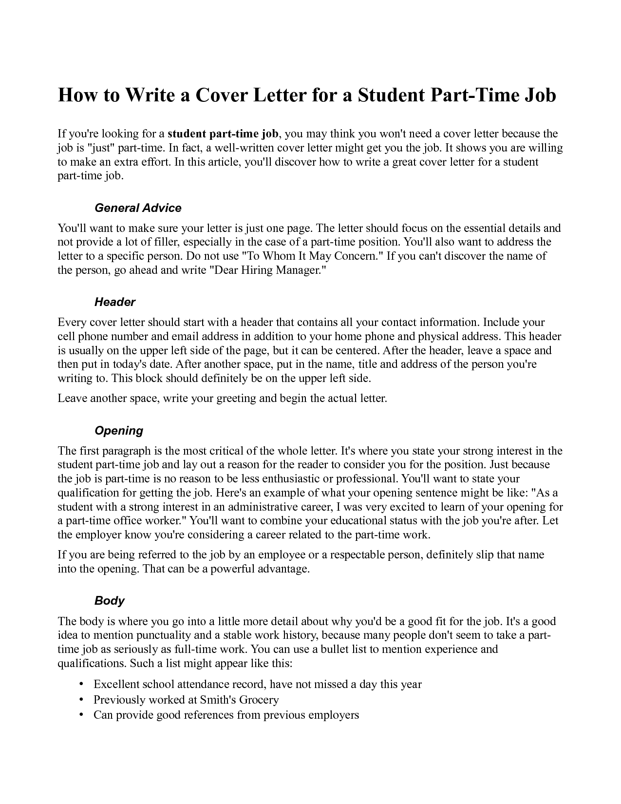 10 Trendy Ideas For Part Time Jobs ideas collection part time cover letter sample cute cover letter 2020