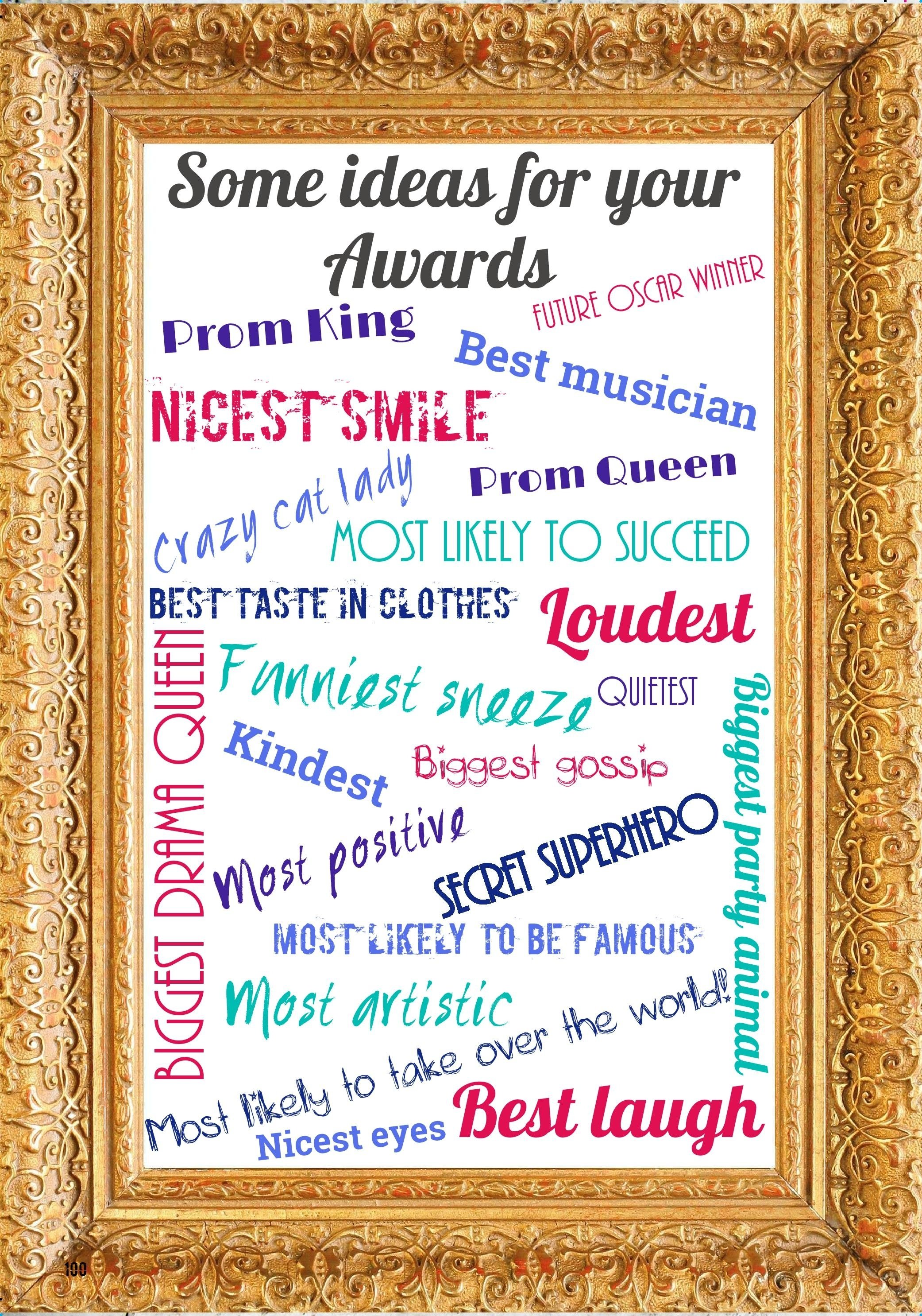 10 Beautiful Funny Award Ideas For Friends ideas for awards categories supporting your yearbook success 2 2021