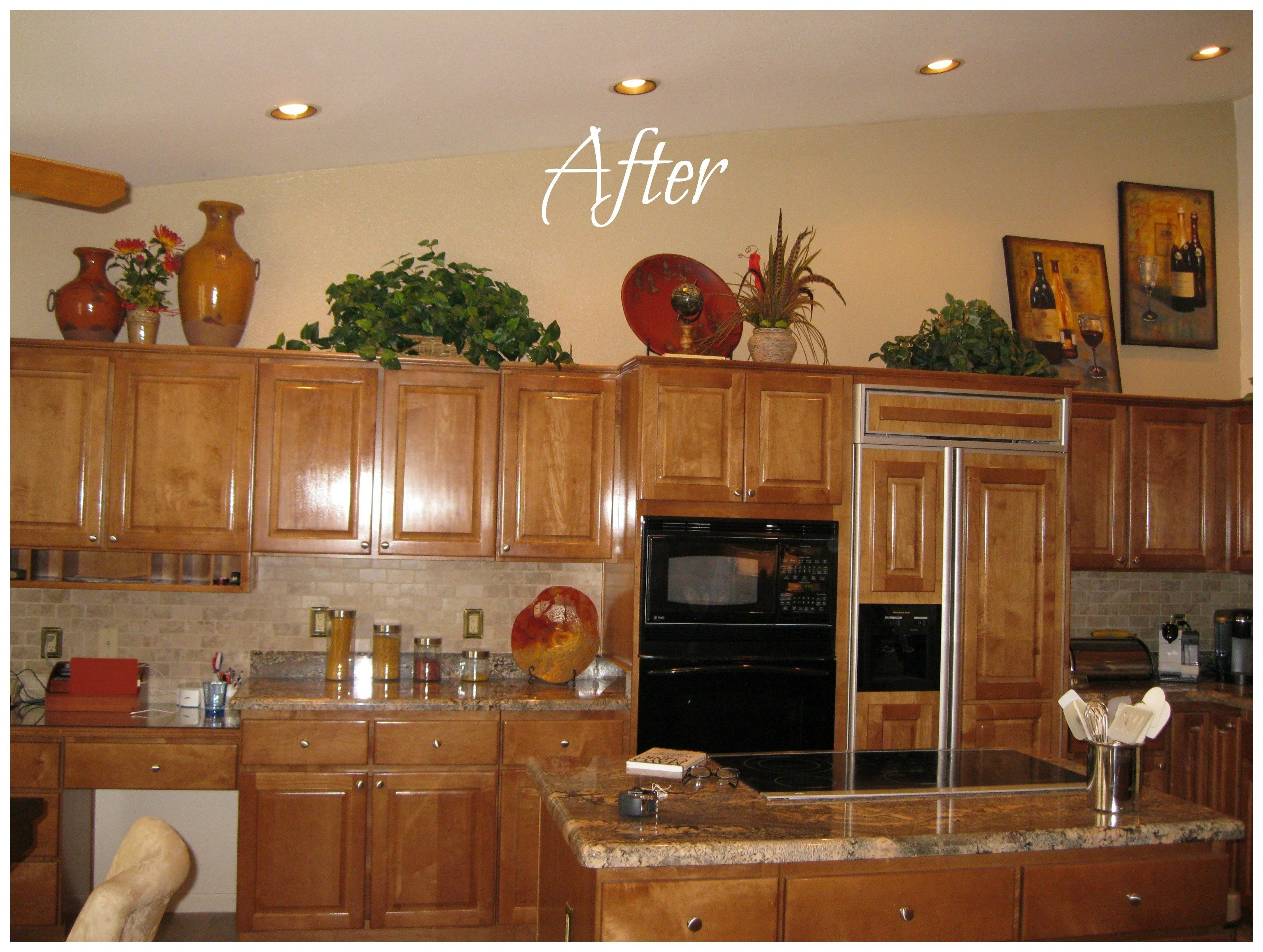 ideas for decorating above kitchen cabinets home design, designs for
