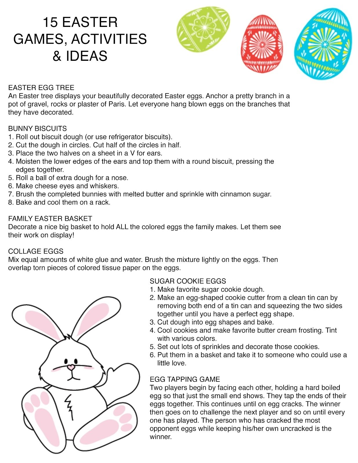 ideas for easter party games - wedding