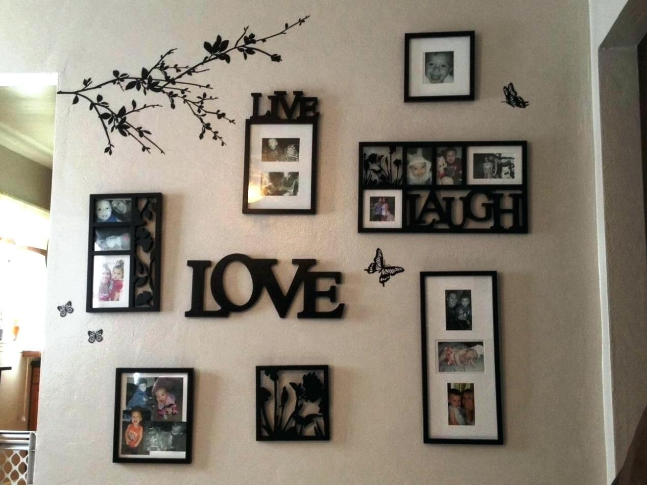 ideas for hanging multiple pictures on wall • walls ideas