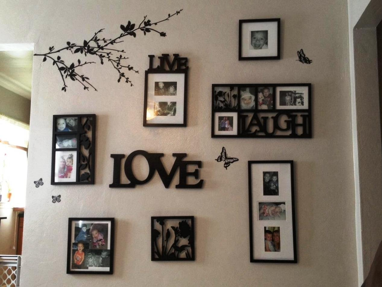 ideas for hanging pictures on wall without frames • walls ideas