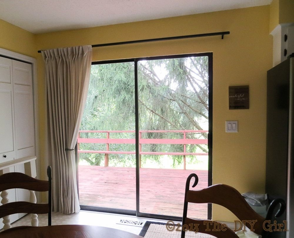 10 Amazing Sliding Glass Door Curtain Ideas ideas for low cost curtain and curtain rod the diy girl pinteres 2020