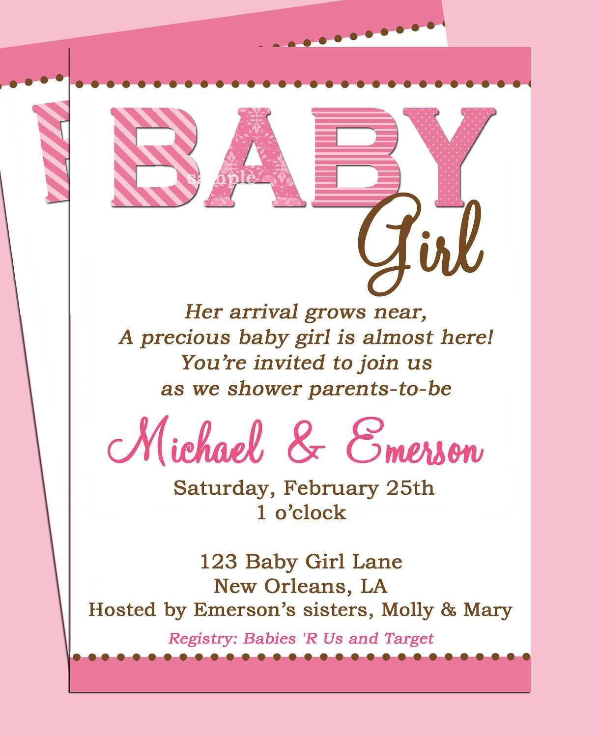 ideas free printable babyr invitations letter sample with amazing