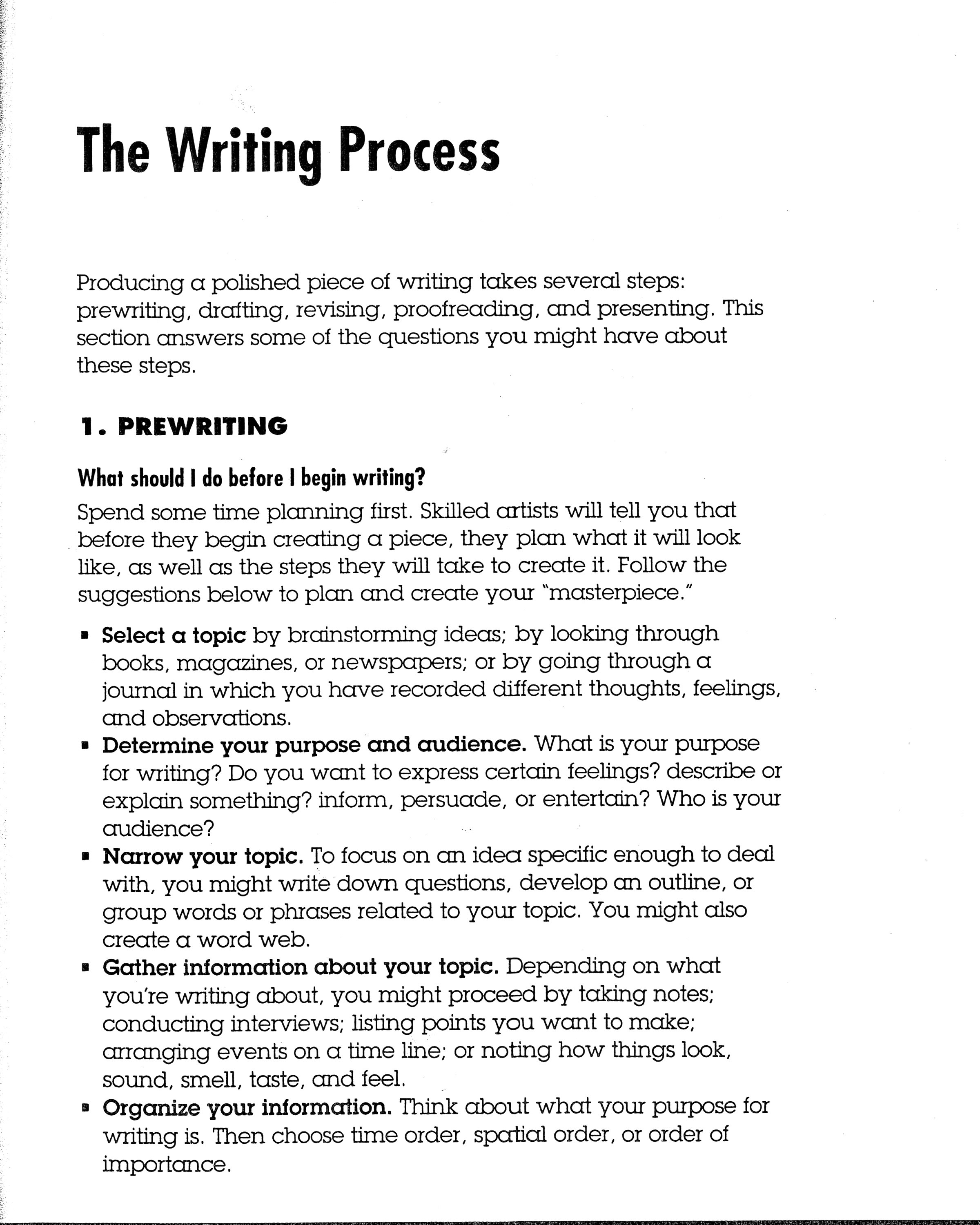 Example of process analysis essay