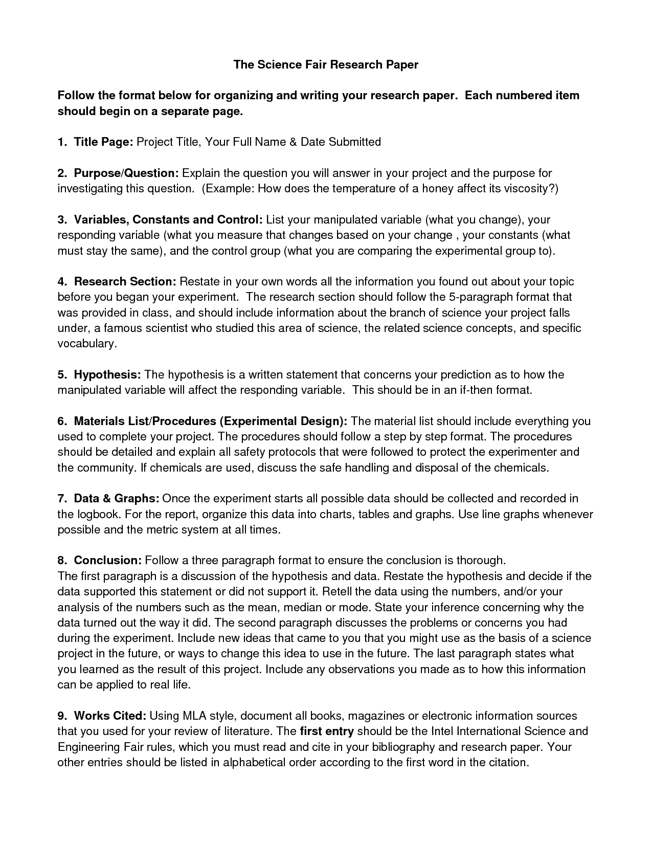 10 Stylish List Of Science Fair Ideas ideas of science fair research paper outline unique political 2021