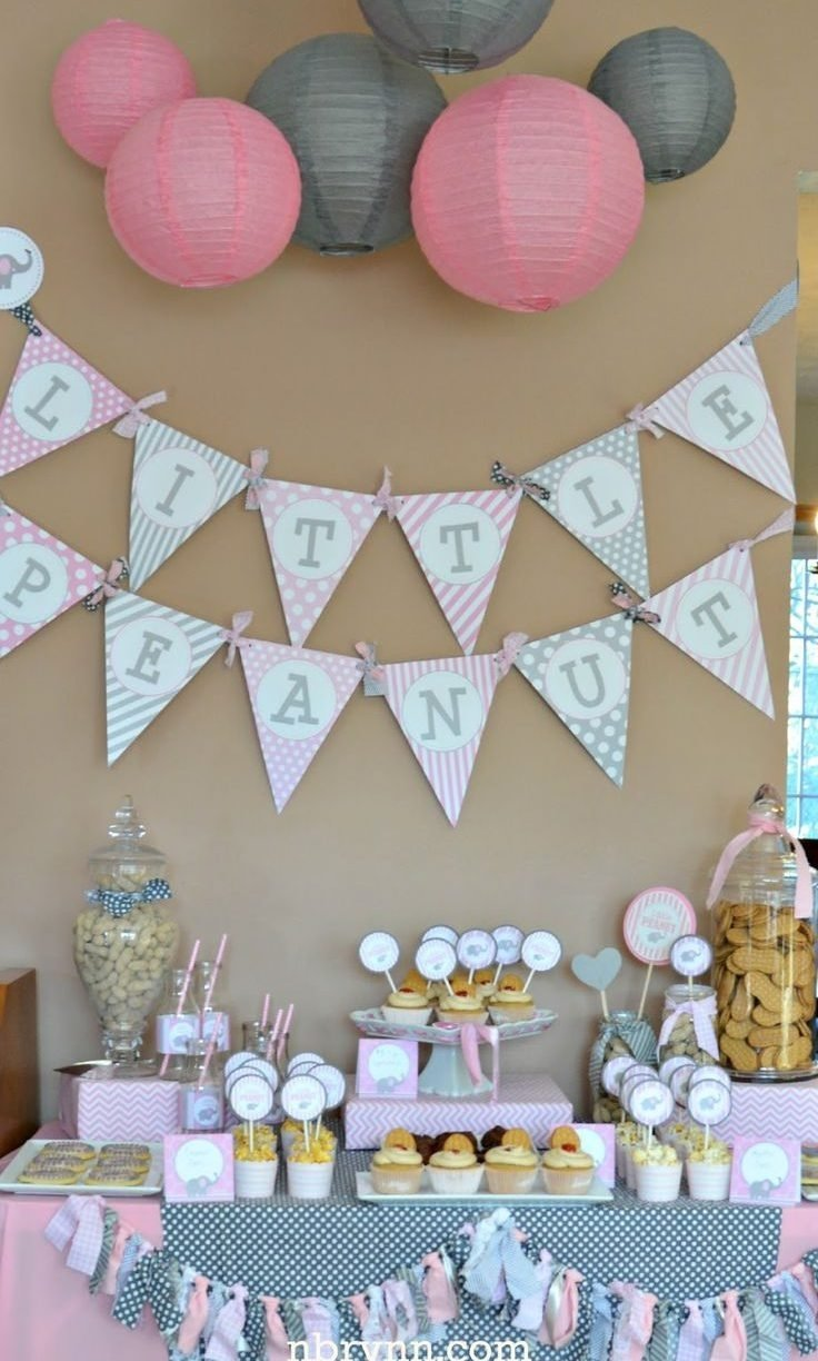 10 Stylish Pink And Gray Baby Shower Ideas ideas pink andrownaby shower decoration tea party favors girl themes 1 2020