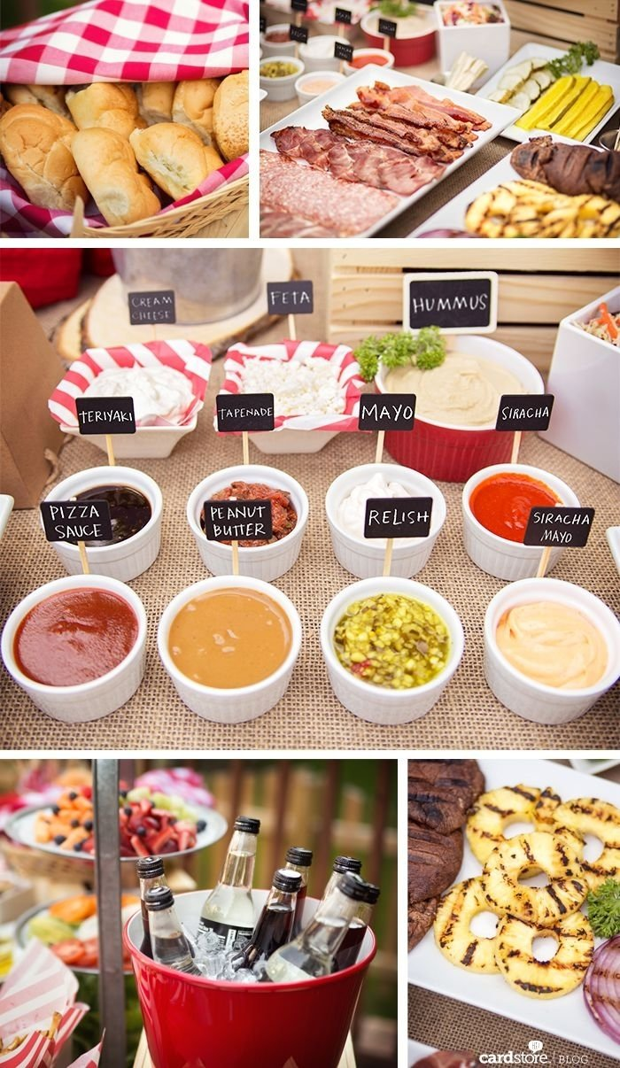 10 Pretty Bbq Party Ideas For Adults ideas to spice up your summer bbq featuring a gourmet burger bar 1