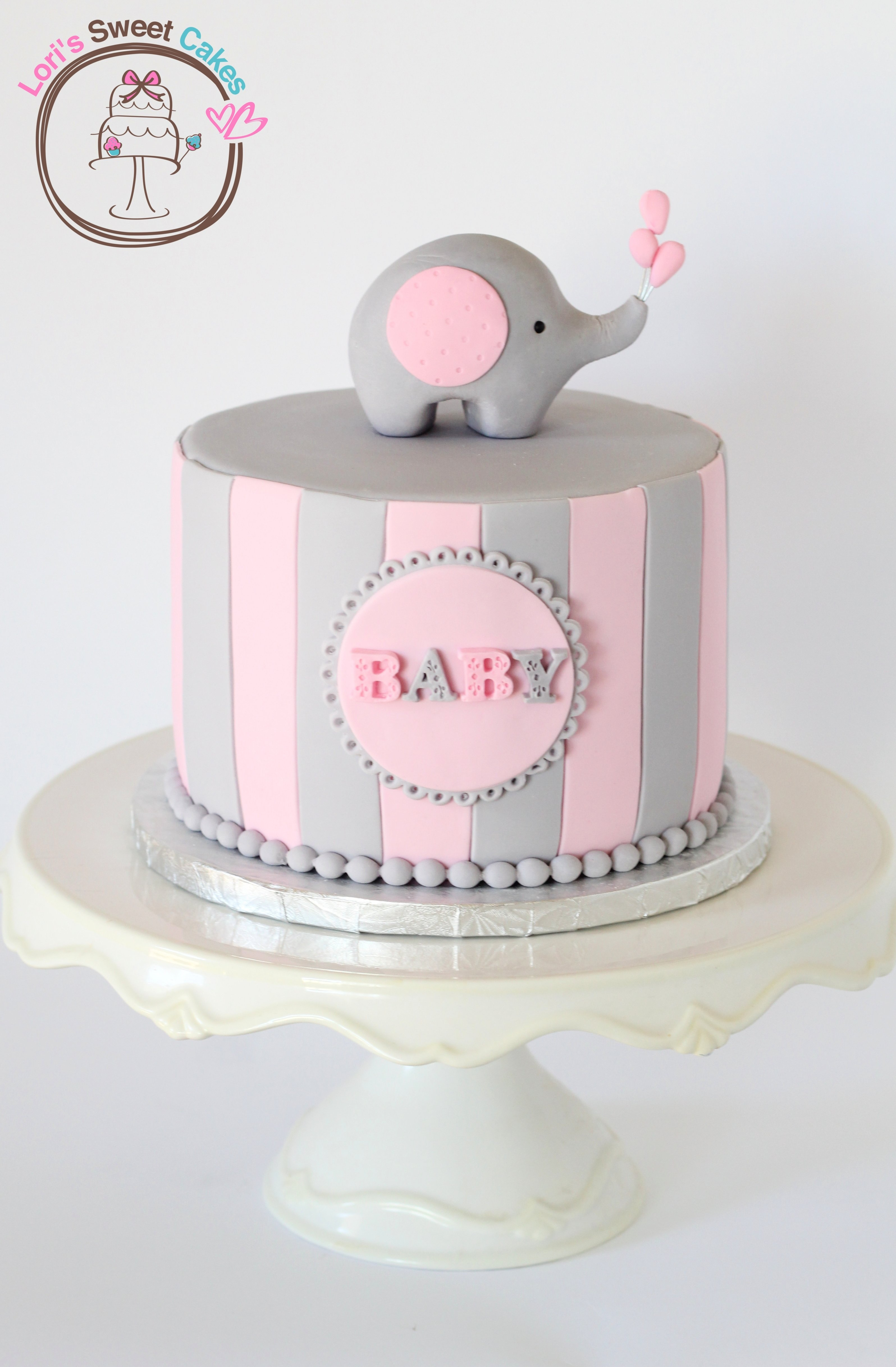 10 Beautiful Girl Baby Shower Cake Ideas ideias de bolo para cha de bebe elephant baby shower cake