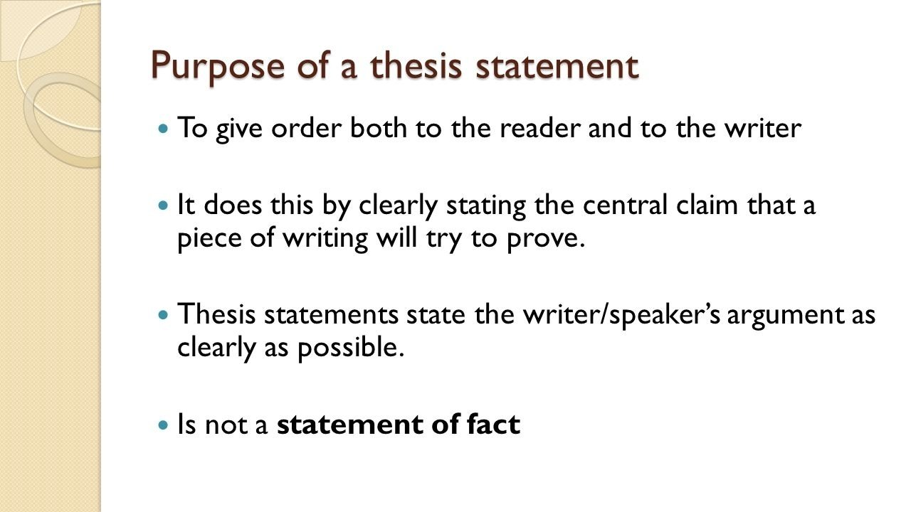 10 Cute The Central Idea Of A Writing identifying the thesis and main idea of a speech ppt download 2021