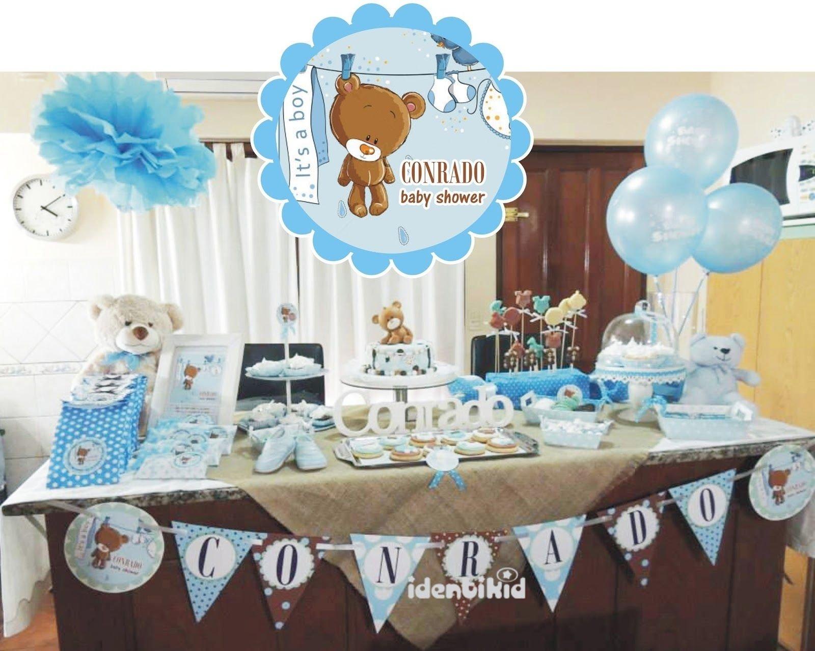10 Fantastic Teddy Bear Baby Shower Ideas identikid diseno grafico para eventos baby shower banderin 2021