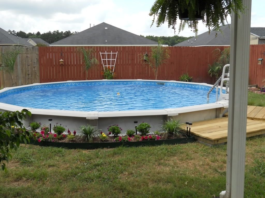 10 Stylish Above Ground Pool Landscape Ideas im not a big fan of having a pool because of the costs associated 2020