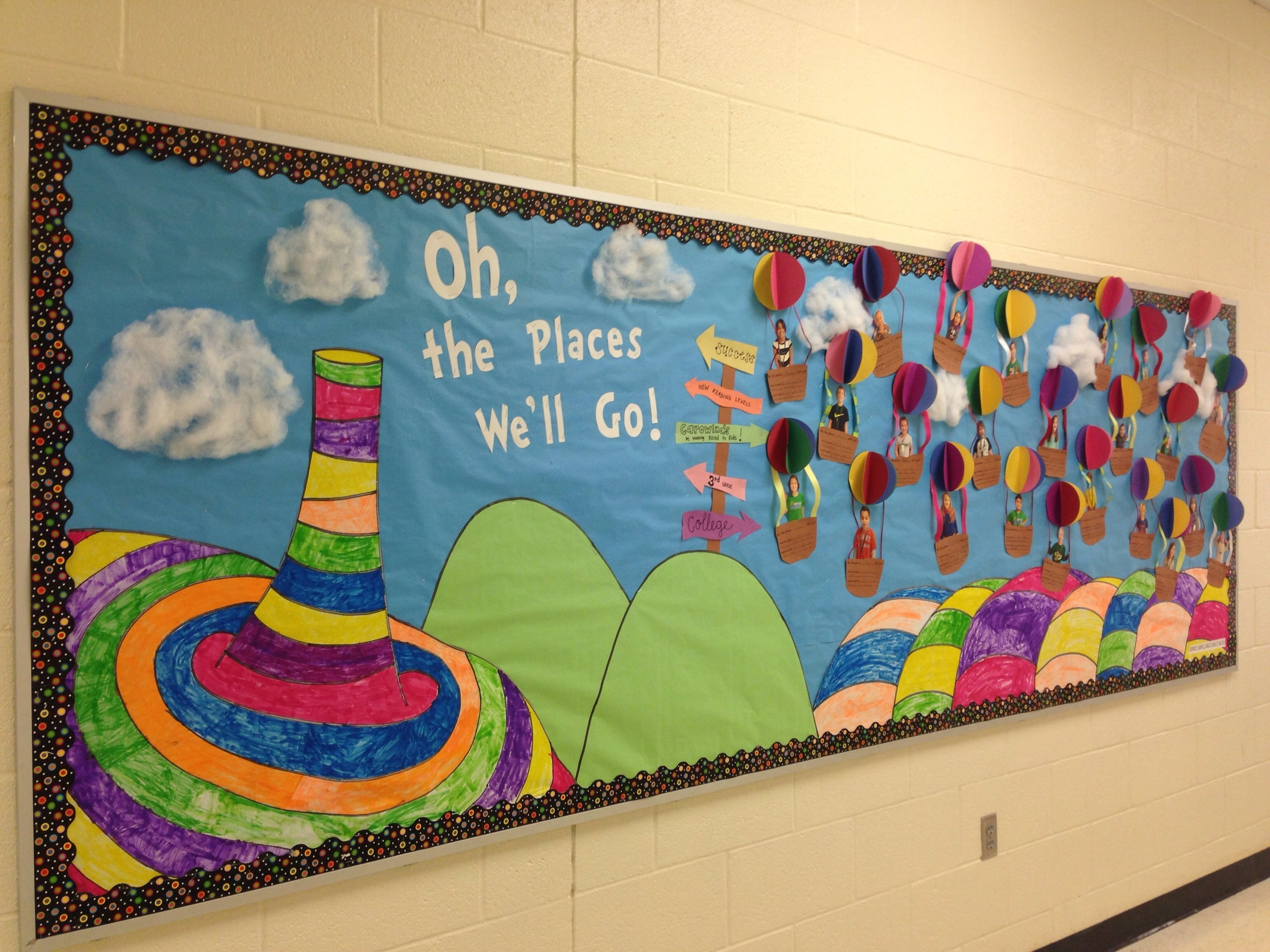 10 Lovable Oh The Places You Ll Go Bulletin Board Ideas im so proud of my bulletin board for read across america week oh