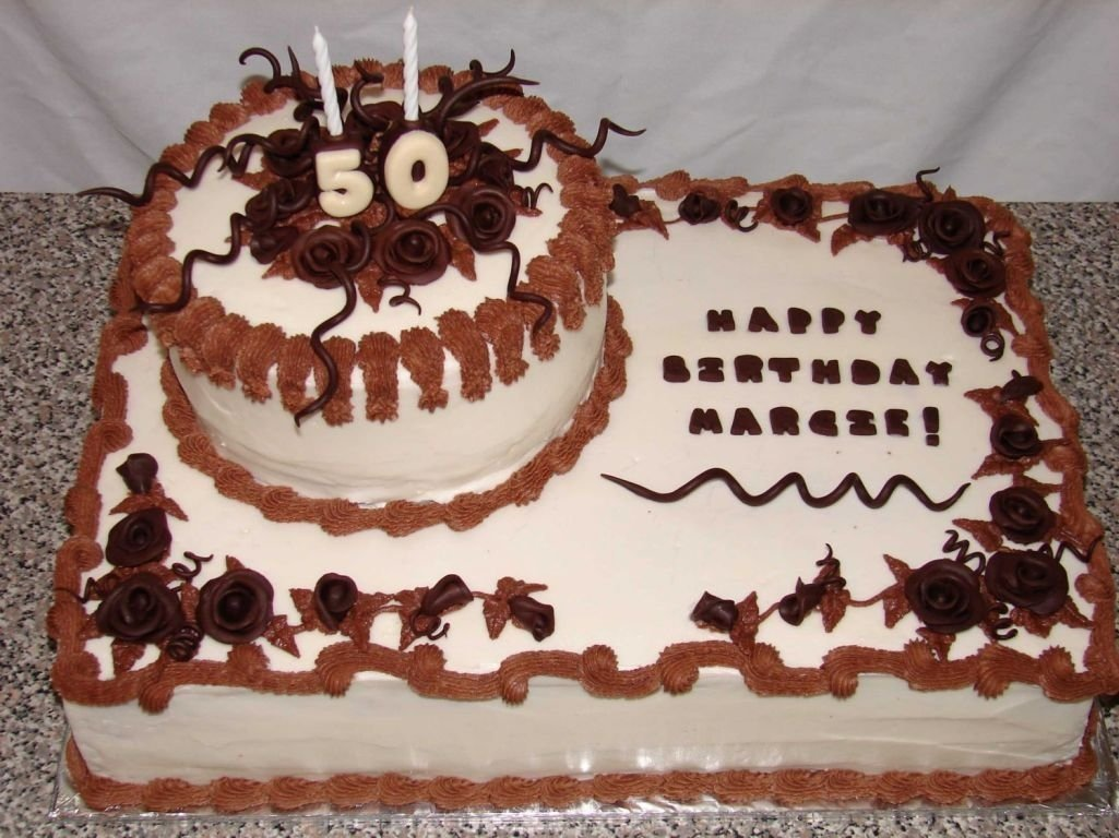 10 Awesome 50Th Birthday Cake Decorating Ideas image of cake ideas for 50th birthday party dad 75th birthday 2020