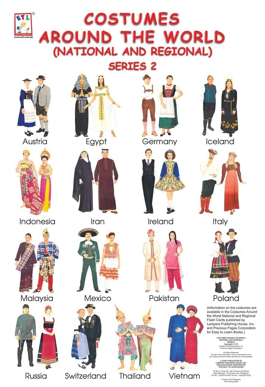 image result for costumes from different countries | missions fair