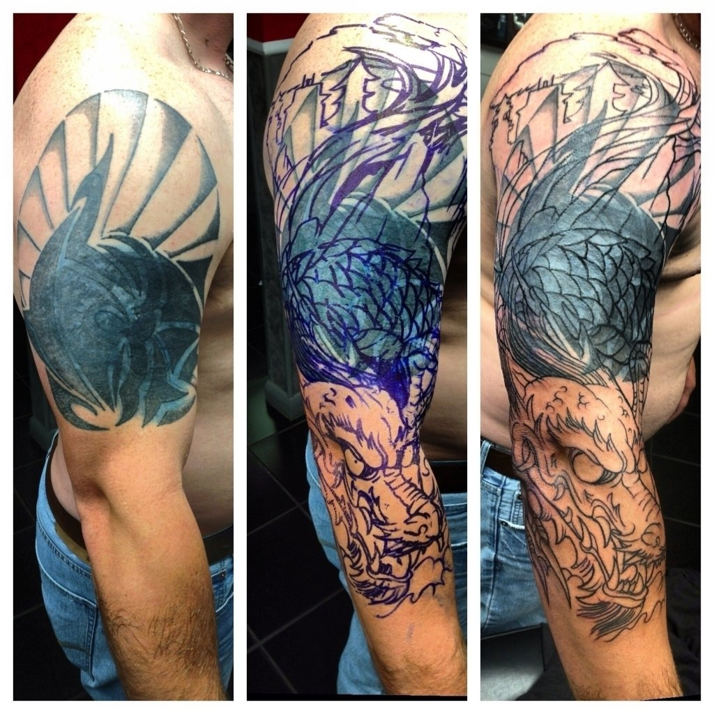 10 Attractive Arm Tattoo Cover Up Ideas image result for japanese dragon tattoo cover up designs cover up 2020