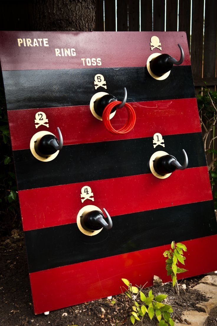 10 Stunning Pirate Party Ideas For Adults image result for pirate hooks for a hook toss carnival game games 2020