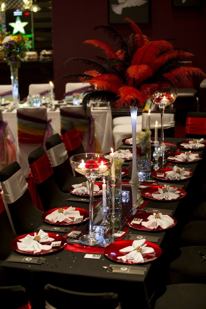 10 Most Recommended Black And Gold Centerpiece Ideas image result for red black gold leopard party decorations old red 2020