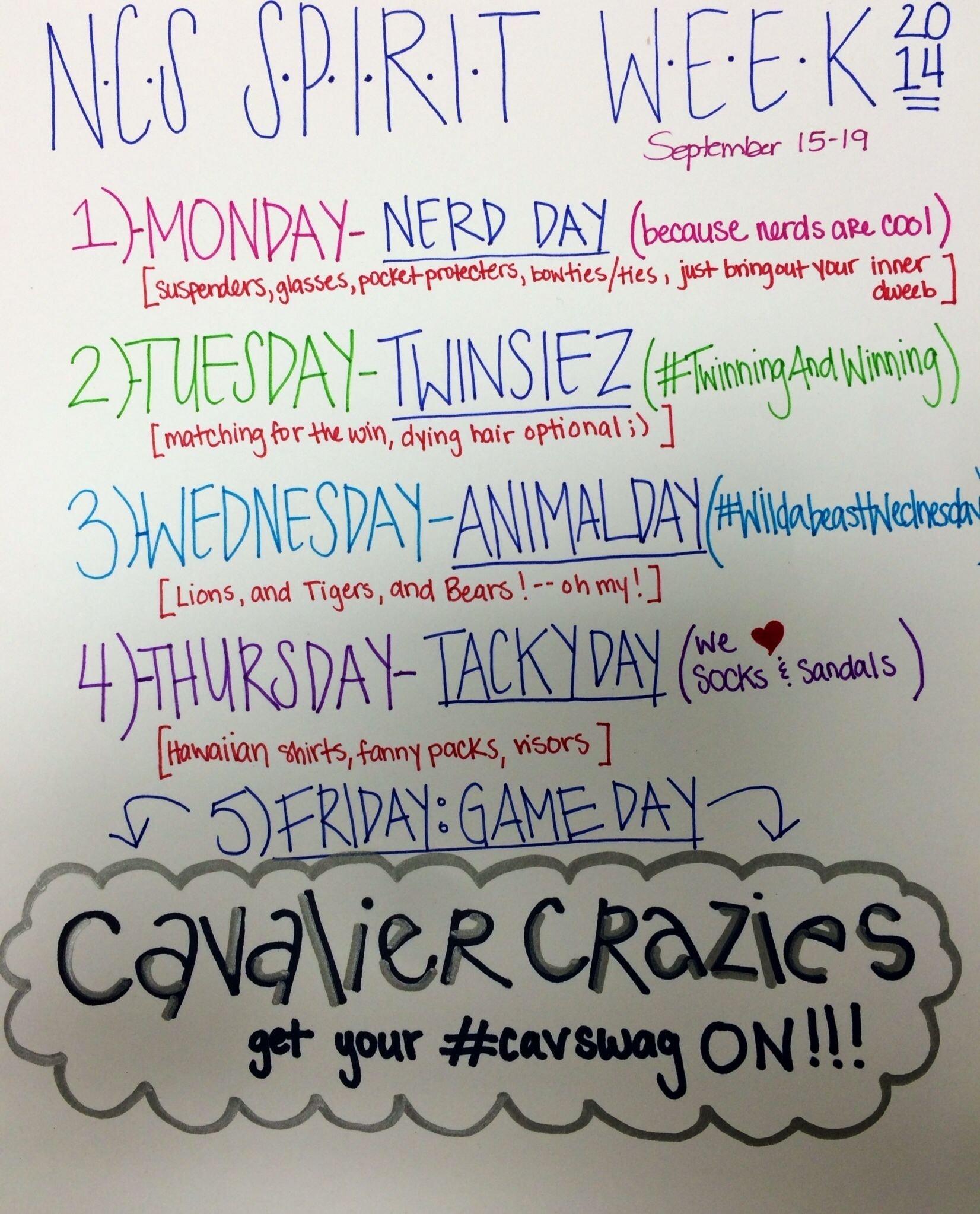 10 Most Recommended Spirit Week Ideas For Elementary School image result for spirit week ideas spirit week pinterest 1