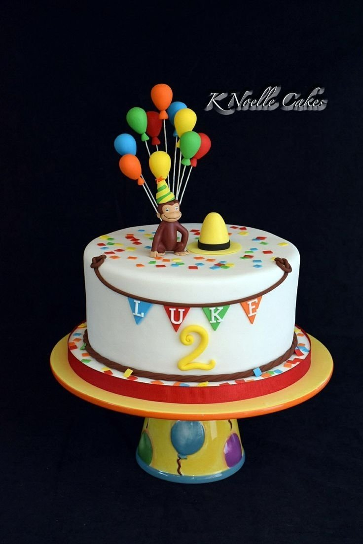 10 Famous Curious George Birthday Cake Ideas image result for toddler curious george party diy decorations 2021