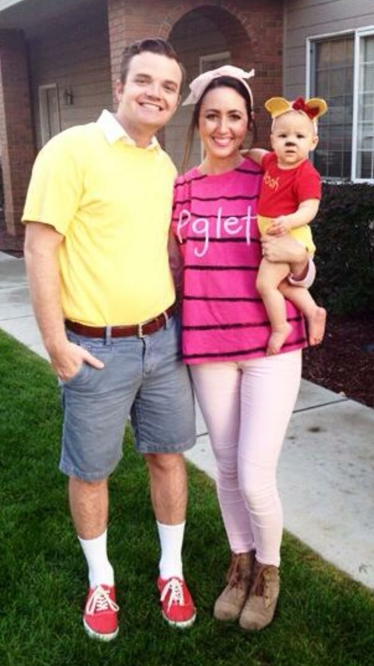 10 Amazing Family Halloween Costume Ideas With Baby image result for winnie the pooh group costume family halloween 2021