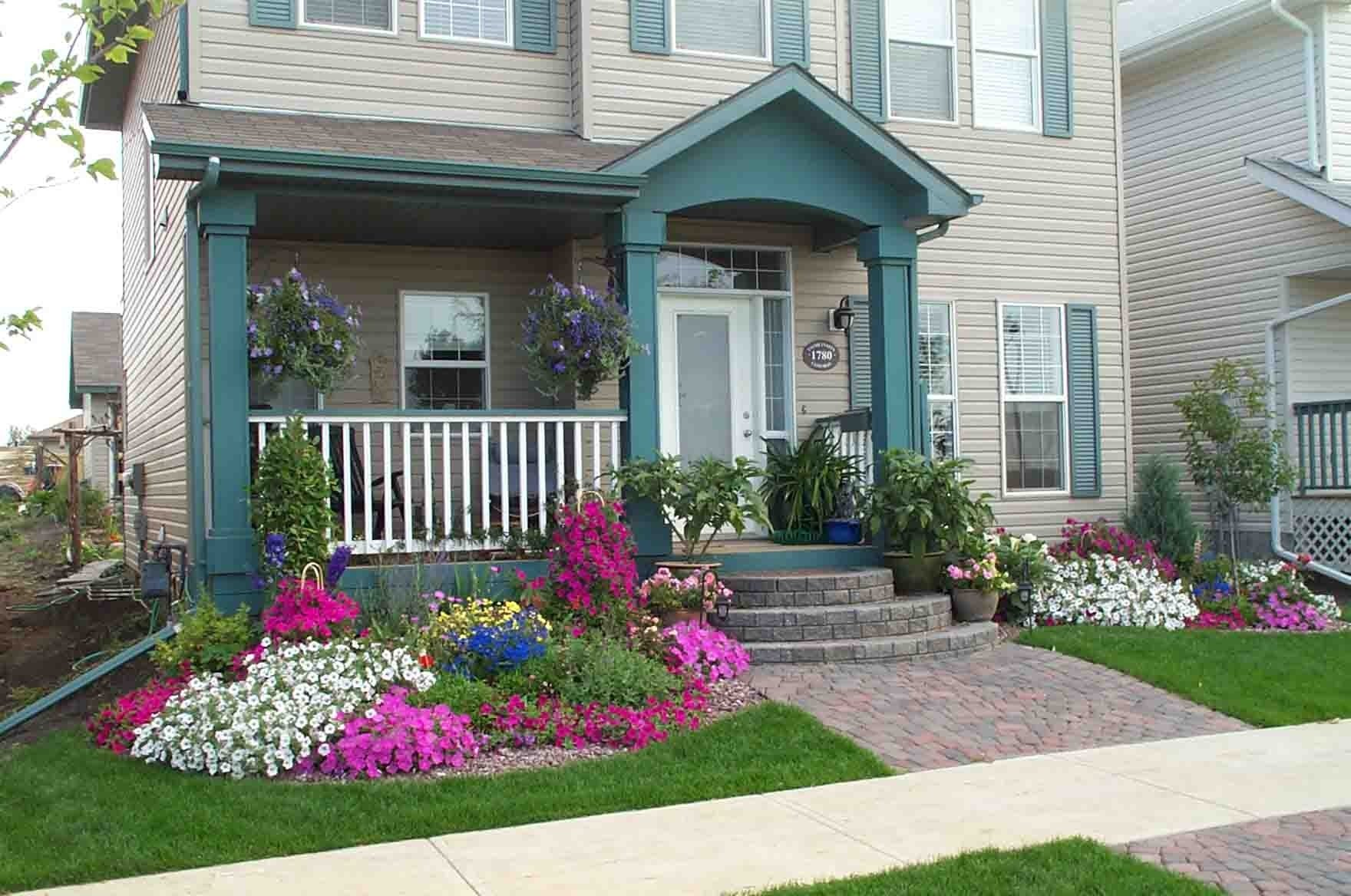 10 Stylish Small Front Yard Flower Bed Ideas images about landscape ideas on pinterest blue spruce small front 2 2020