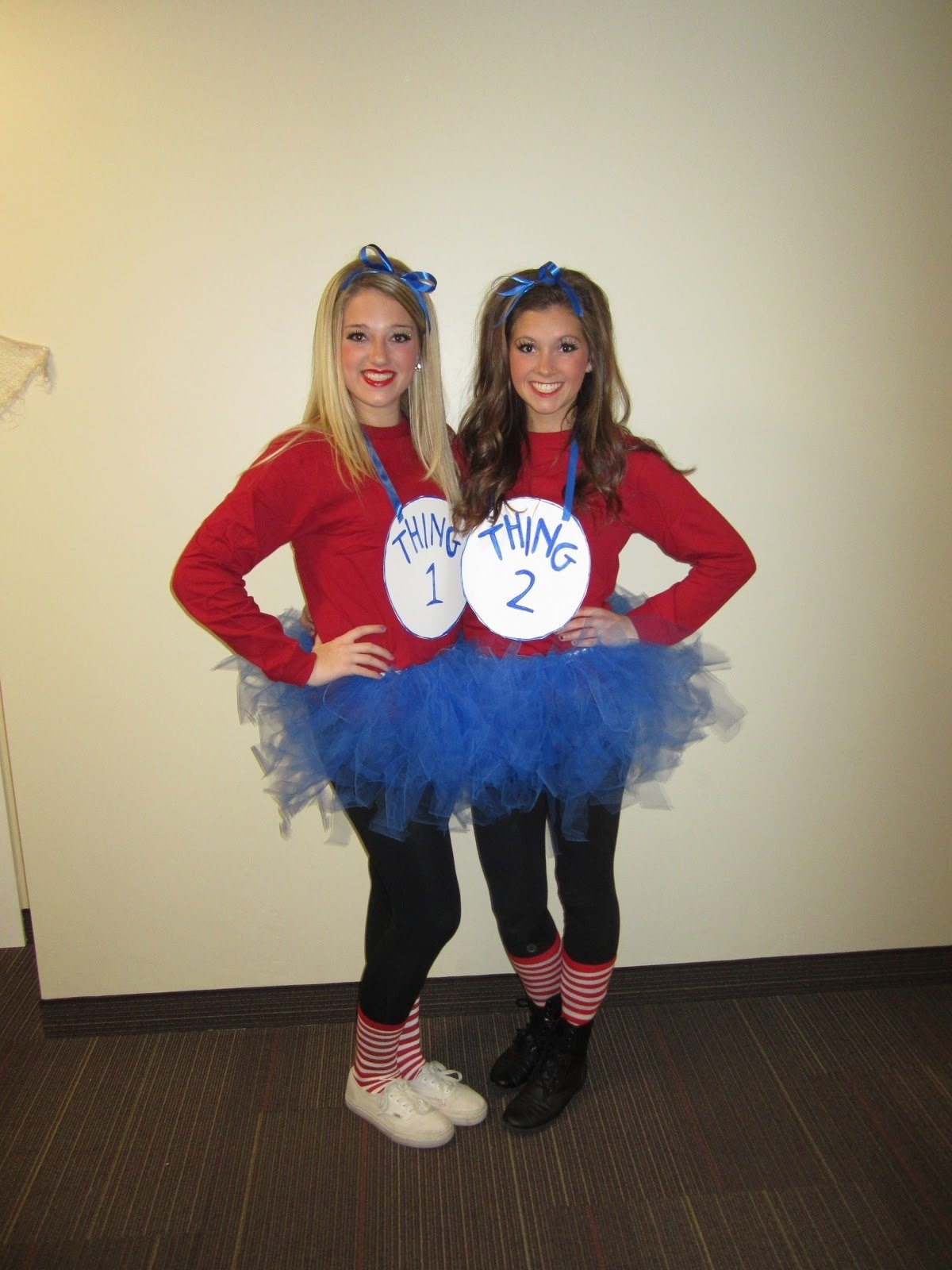 10 Cute Costume Ideas For 2 Girls images for thing one and thing two costumes halloween 7 2020