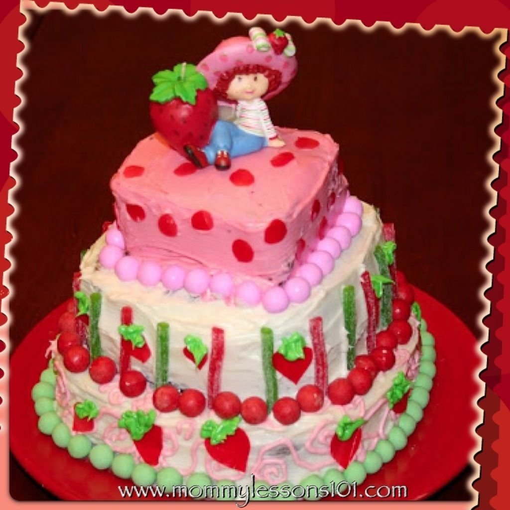 10 Attractive Strawberry Shortcake Birthday Cake Ideas img 5504 1024x1024 catch me partying pinterest 2020