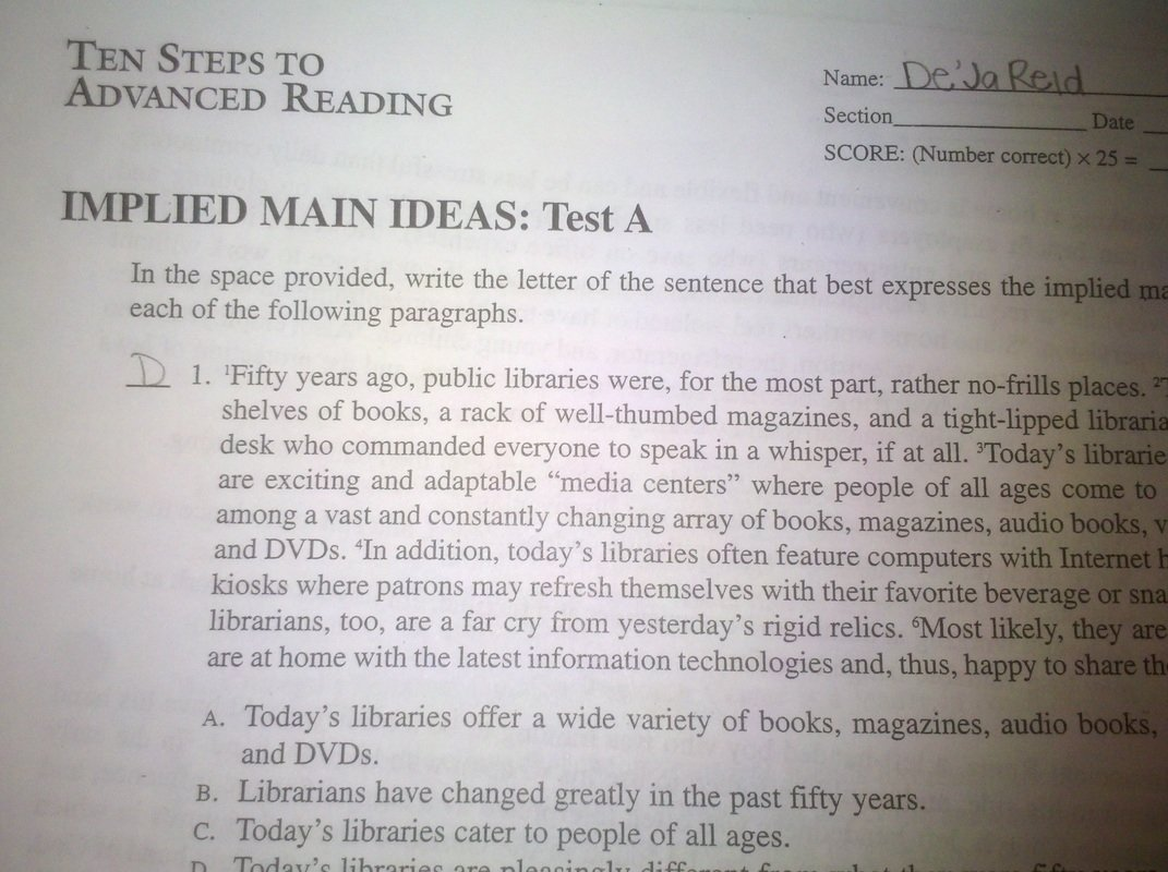 10 Ideal What Is An Implied Main Idea implied main idea worksheet worksheets for all download and share 2020