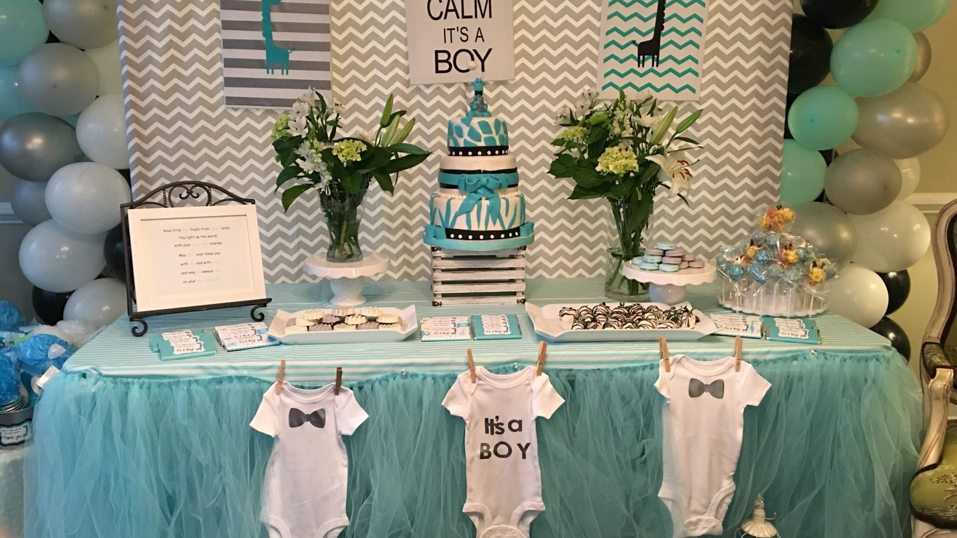 10 Lovely Ideas For Baby Shower Boy impressive baby shower boy ideas on budget diy centerpiece theme 2020
