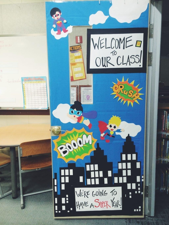 10 Best Door Decorating Ideas For School impressive backyards back school door decorating ideas two apples 1 2021