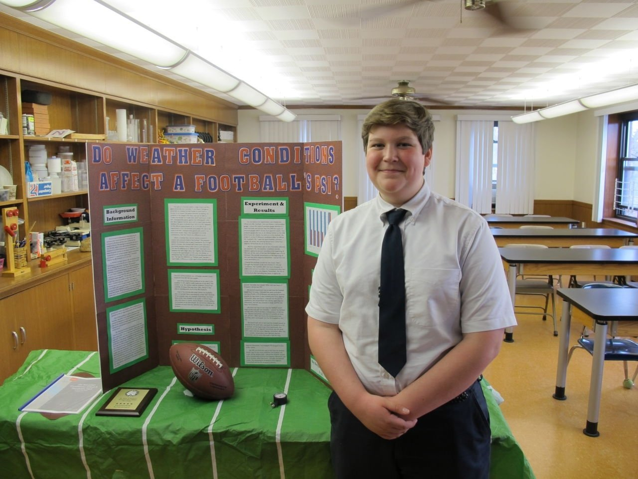 10 Stylish High School Level Science Fair Project Ideas in deflategate science fair project 7th grader takes on nfl only 2