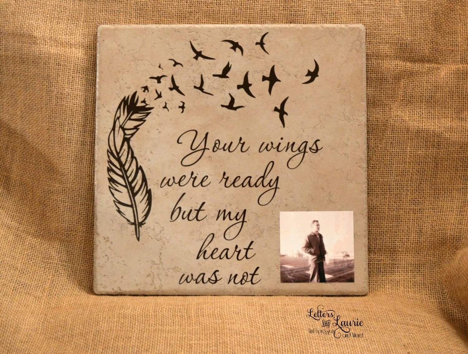 in loving memory gift, your wings were ready, memorial gift, loss of