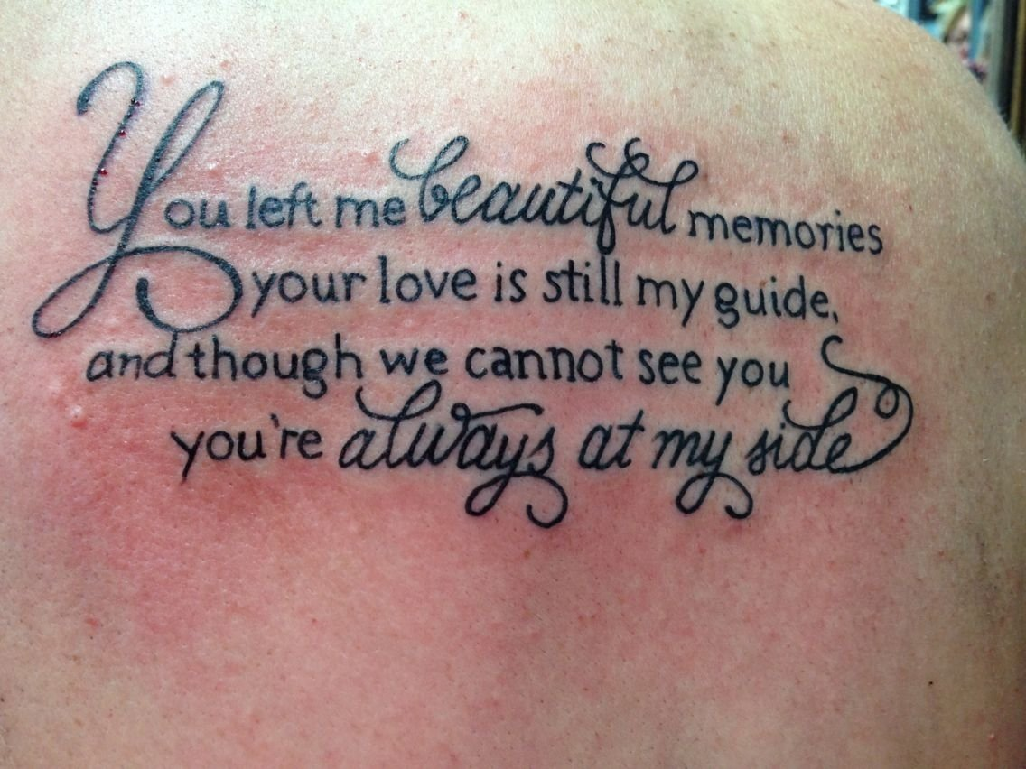 10 Ideal Tattoo Ideas For Lost Loved Ones in memory of all my loved ones that have passed away always in my