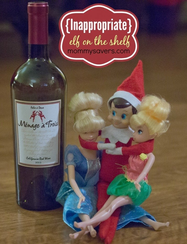 inappropriate elf on the shelf ideas (adults only!) | mommysavers