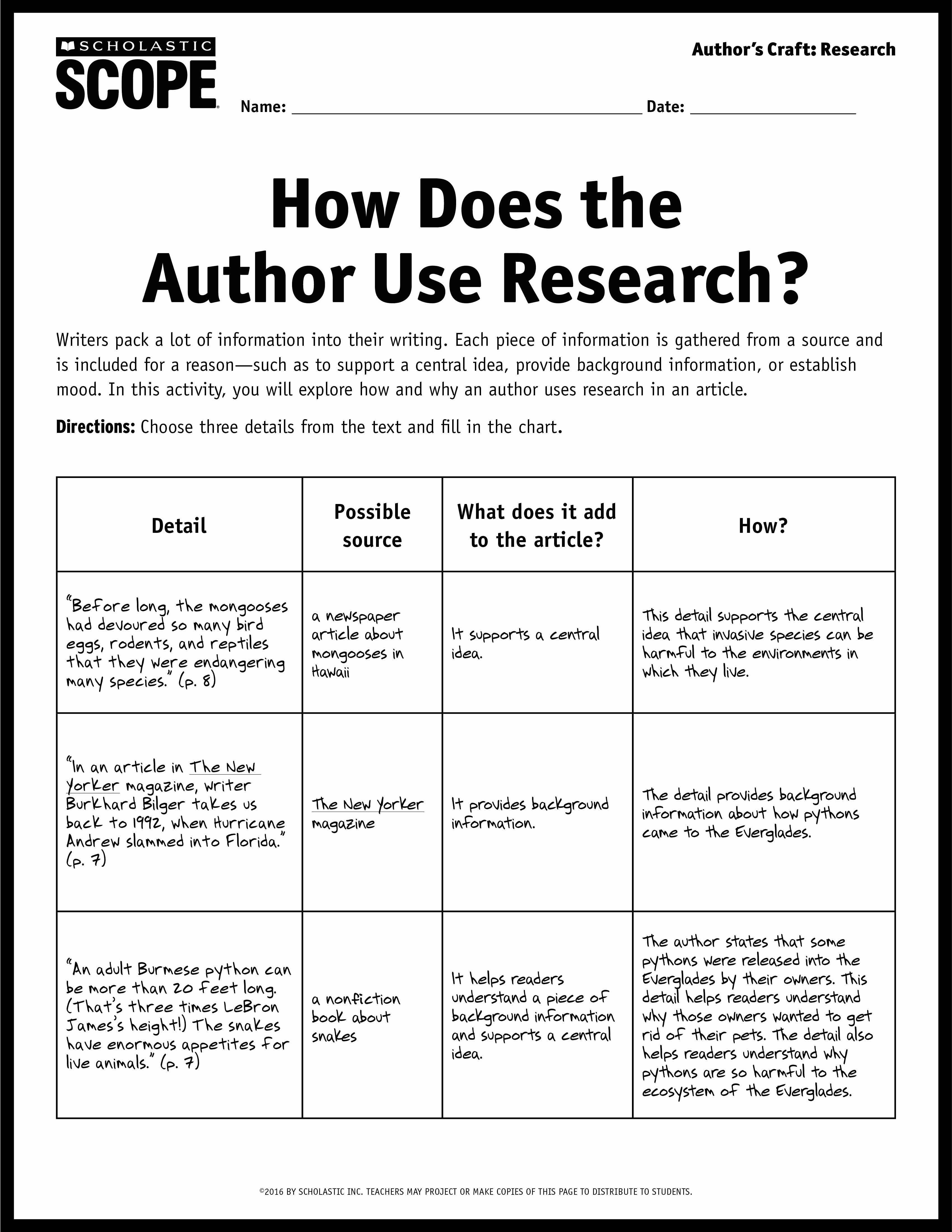 10 Attractive Middle School Newspaper Article Ideas incorporating research into writing using scope nonfiction middle 2021