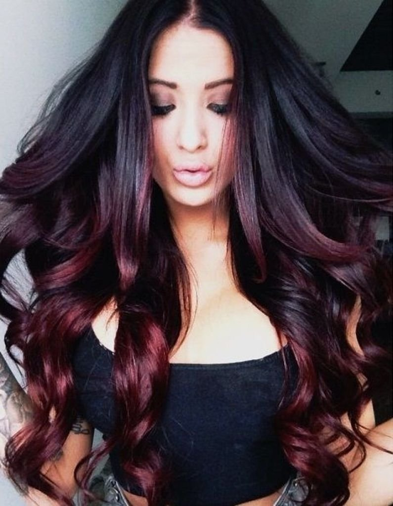 10 Attractive Cute Hair Color Ideas For Dark Hair incredible hair color on black best ideas pic of dying popular and 2020