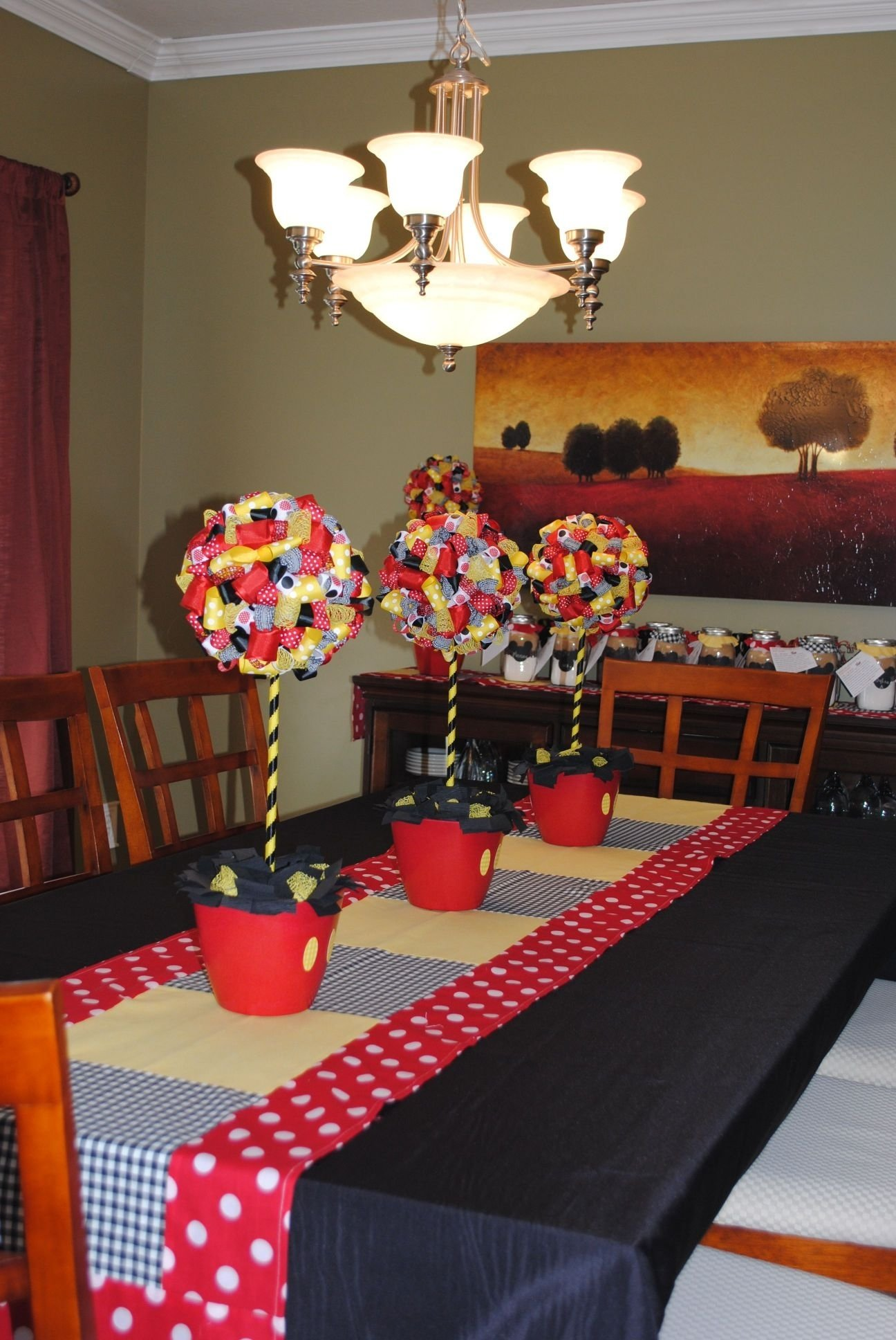10 Attractive Mickey Mouse Party Favors Ideas incredible mickey mouse decorations dining roommade table runner and 2020