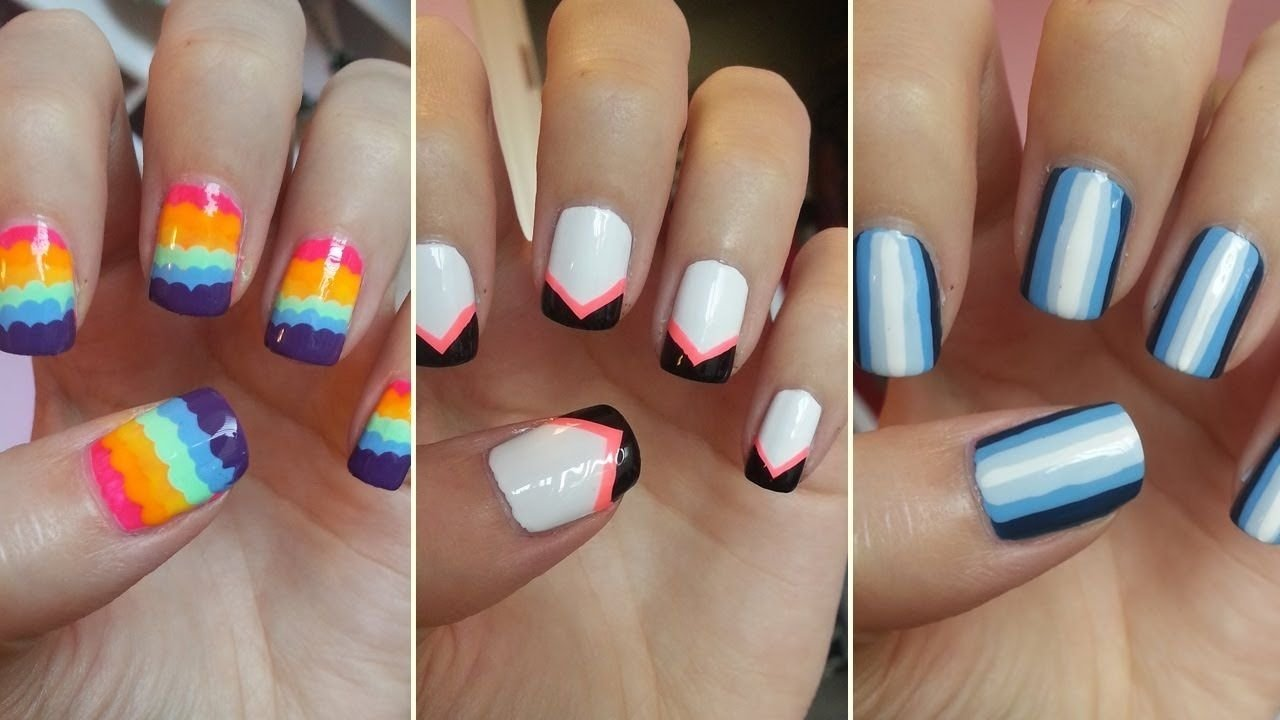 10 Attractive Easy Nail Ideas For Short Nails incredible nail art for short nails image ideas cool easy nail art 2021