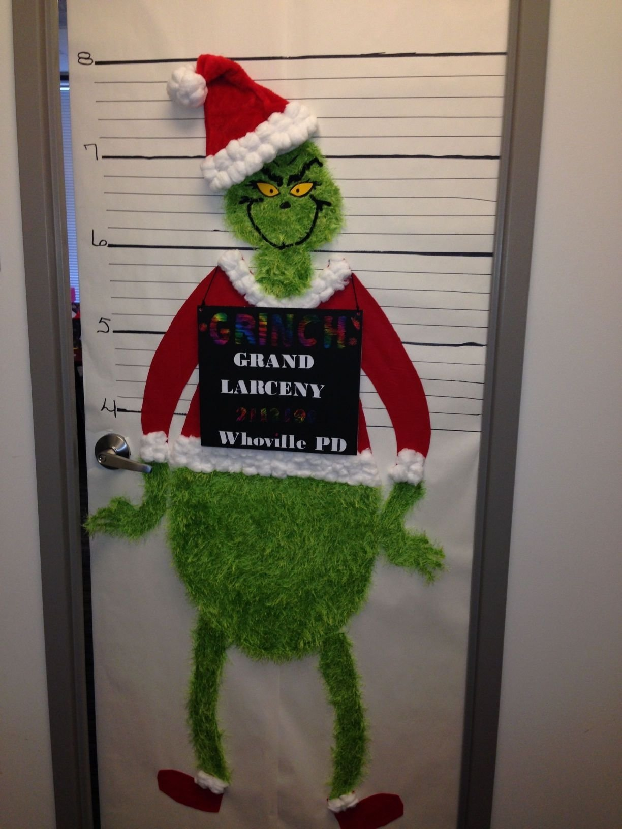 10 Most Recommended Christmas Door Decorating Contest Ideas incredible the grinch christmas office door decorating contest 1