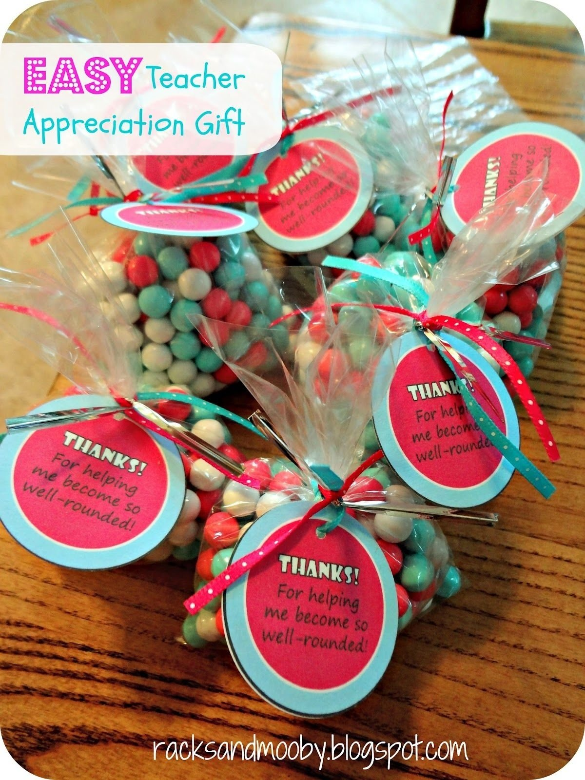 inexpensive and easy teacher appreciation gifts. super cute & super